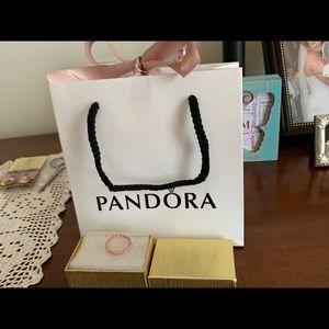 Pandora rose gold 56 eternal cloud ring